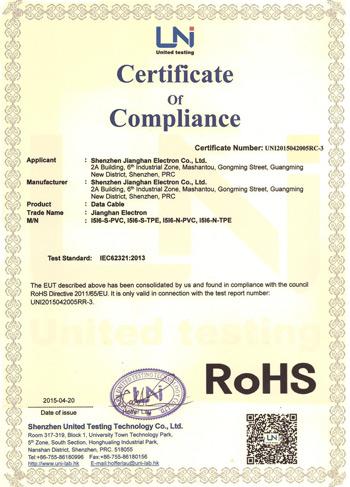 产品ROHS认证