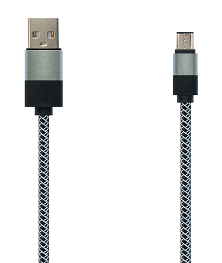 TYPE C USB2.0 混色编织+铝壳 充电/数据线