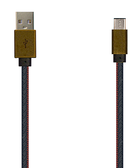 TYPE C USB2.0 仿古铜壳牛仔布充电/数据线